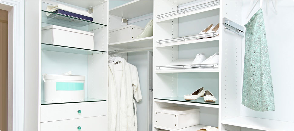 Image of an organized closet