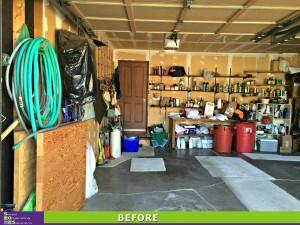 Garage Makeover Left Before