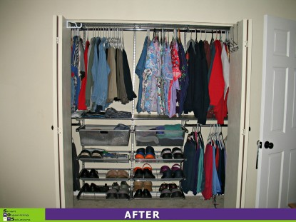 Closet Makeover After