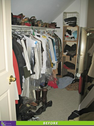 Closet Makeover Left Side Before