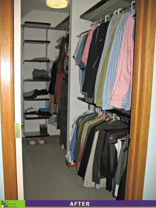 Closet Makeover Right Side After