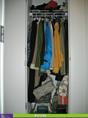 Happy Hall Closet Before