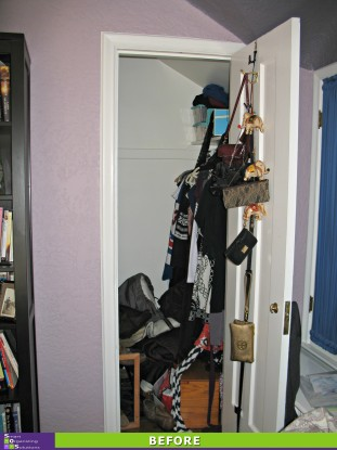 3 Closets in 1 Day, Guest Closet Before
