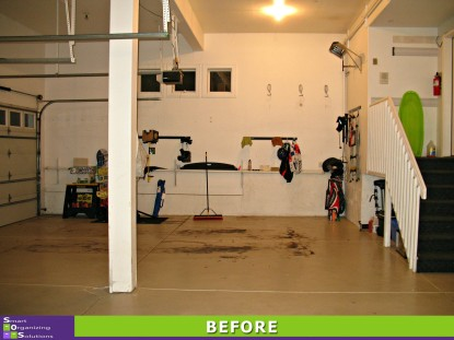 Gorgeous Garage, Left Wall Before
