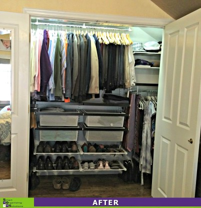 3 Closets in 1 Day, Master Closet After