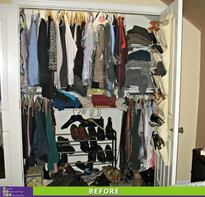 3 Closets in 1 Day, Master Closet Before