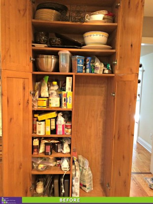 Organized Pantry Before