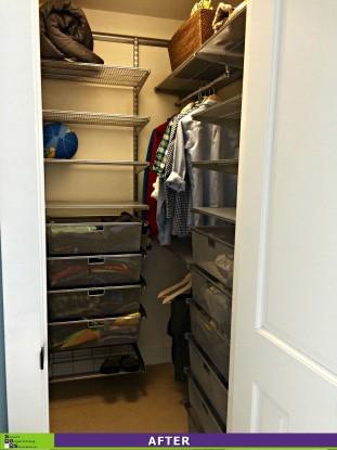 Cluttered Closet After