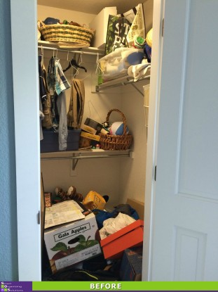 Cluttered Closet Before