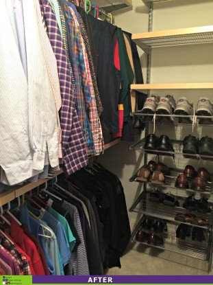 Master Closet Makeover After
