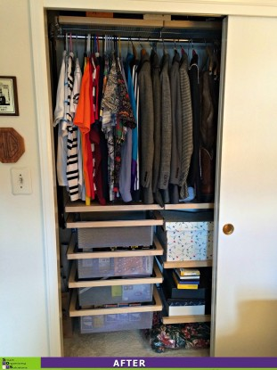 Closet Clutter Cleared After