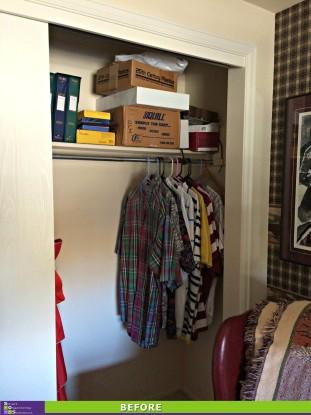 Closet Clutter Cleared Before