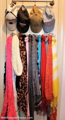 towel bar scarves and hats
