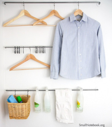 Laundry Room Wall Organization