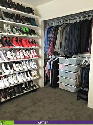 Shoe Wall and Closet After