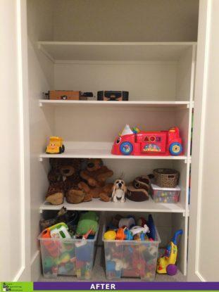Left basement closet after titled