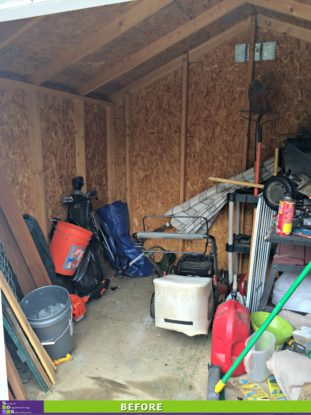 A Shipshape Shed Before