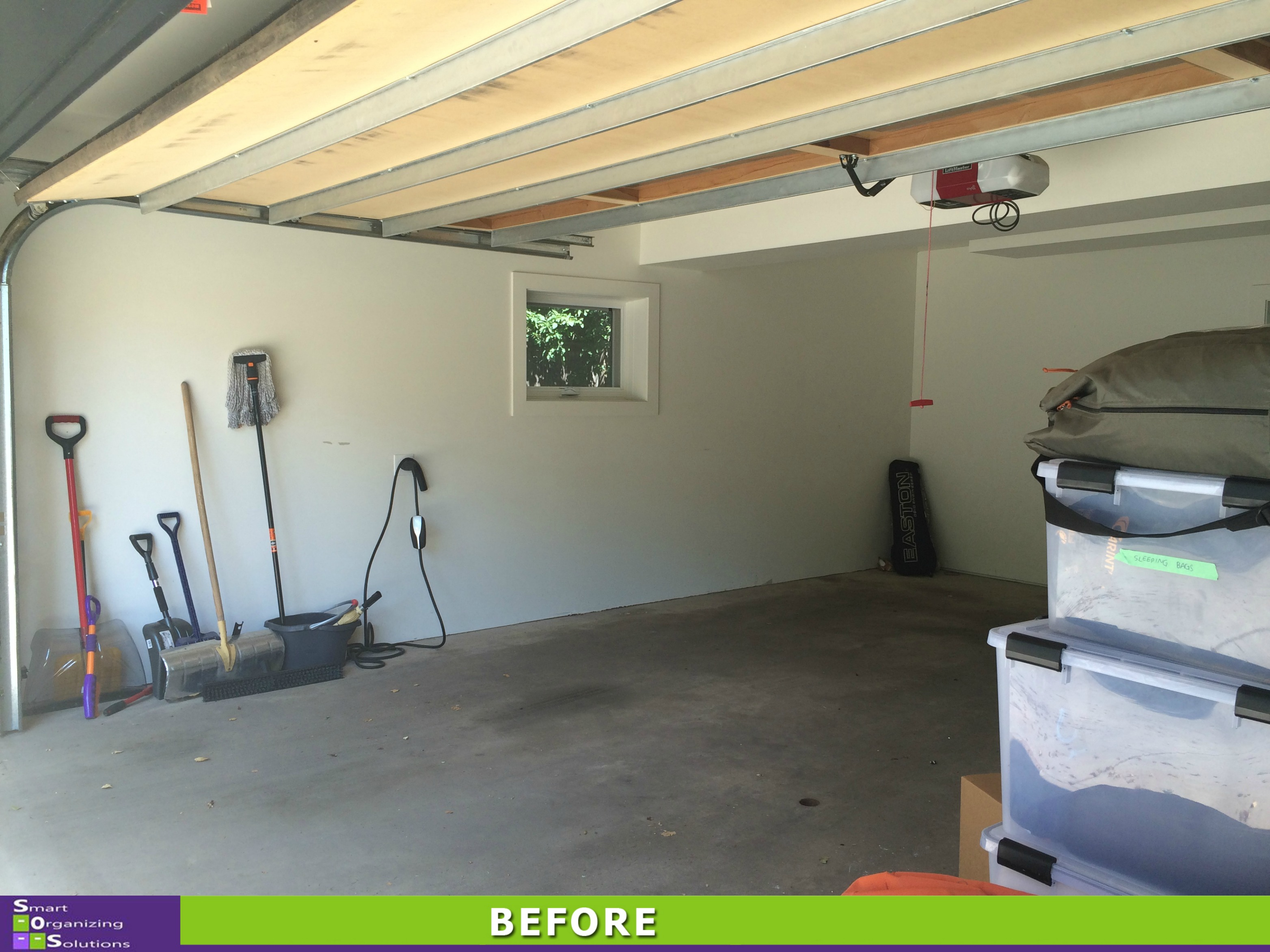 Storage Solutions For A Small Garage Left Side Before