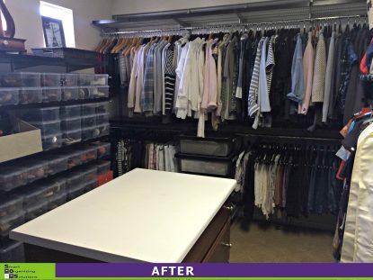 Master Closet Makeover After