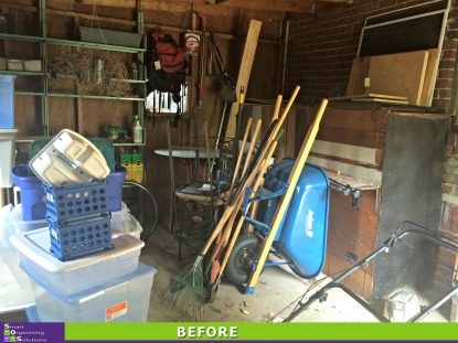 Shed Clean Up Before
