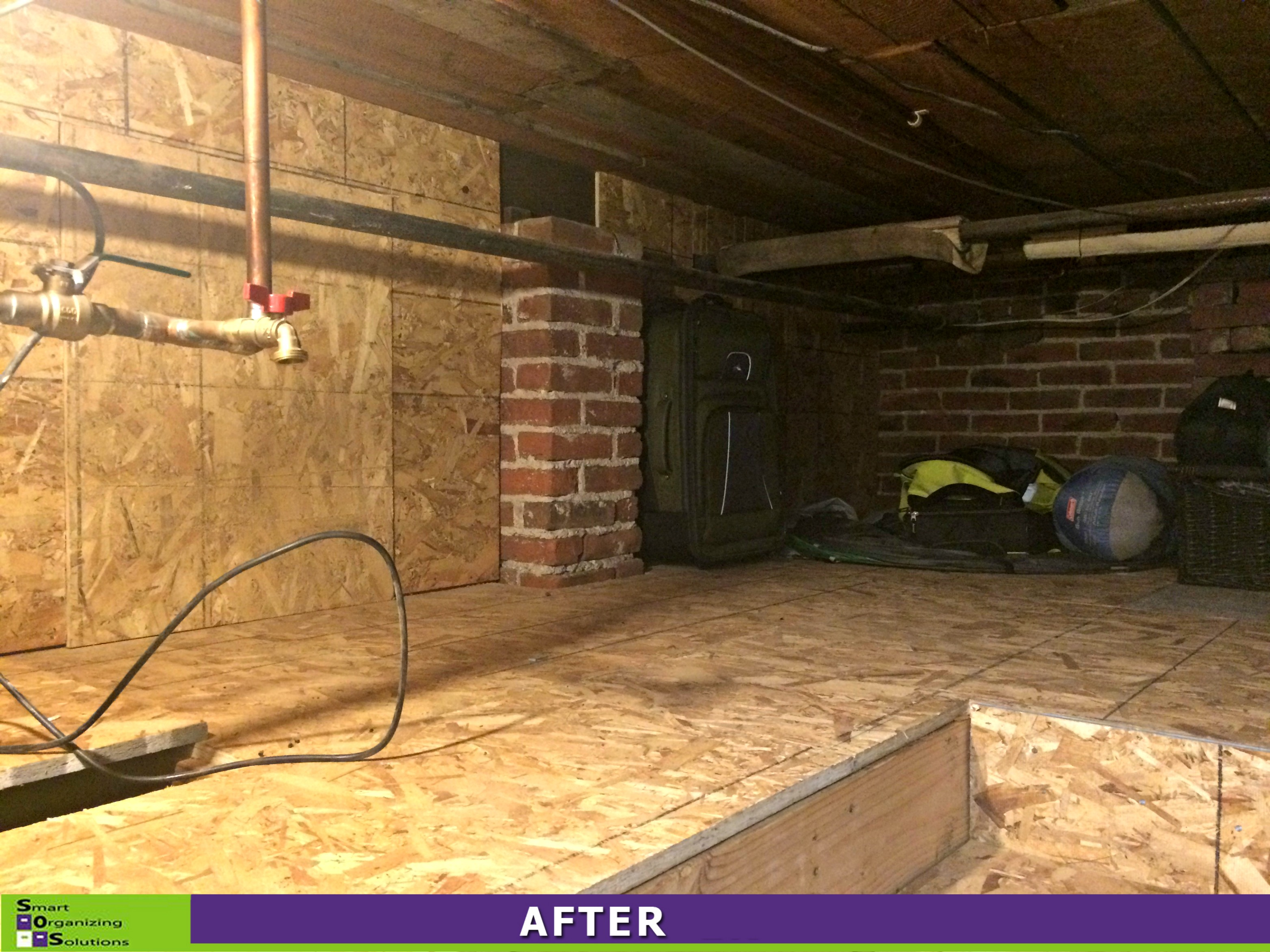 Basement sos smart organizing solutions for Crawl basement