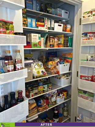 Messy Pantry Makeover After