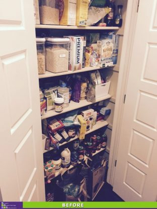 Messy Pantry Makeover Before