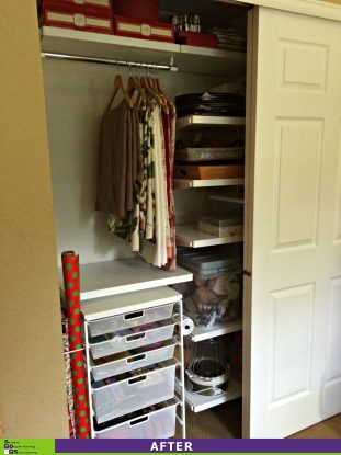 A Chaotic Closet Gets a Clutter Makeover After