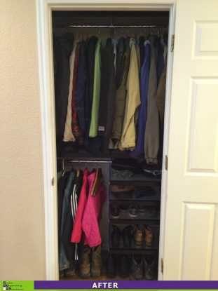 Crammed Coat Closet After