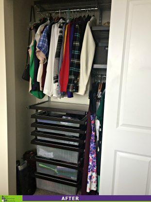 Maximizing a Small Closet After