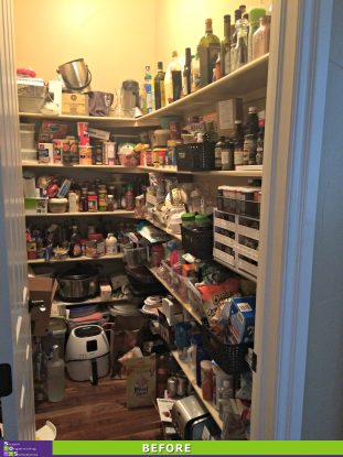 A More Organized Pantry Before