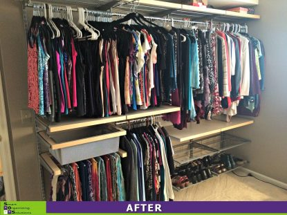 A Spare Room Transformed Into A Master Closet After