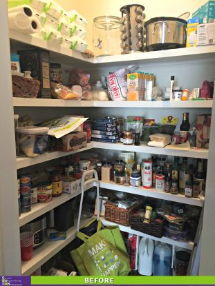 Picture Perfect Pantry Before
