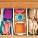 drawer filled with organized tupperware