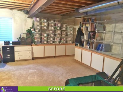 Basement Craft Room Clean Up Before