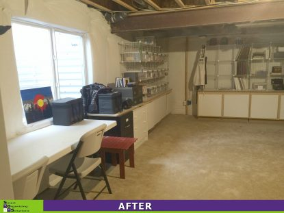 Basement Craft Room Clean Up After