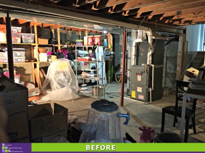 Basement Clean Out Before