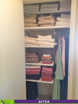 An Overflowing Linen Closet After