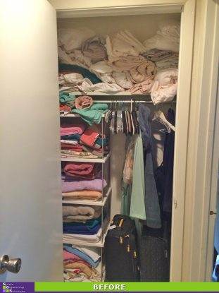 An Overflowing Linen Closet Before
