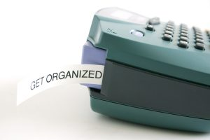 "Personal labeler with ""Get Organized"" label visible"