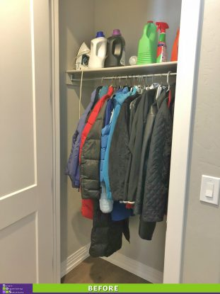 A New and Improved Coat Closet Before