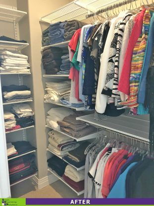 Gussied Up Guest Closet After