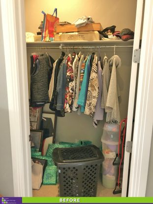 Gussied Up Guest Closet Before