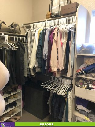 A Tidier Master Closet Before