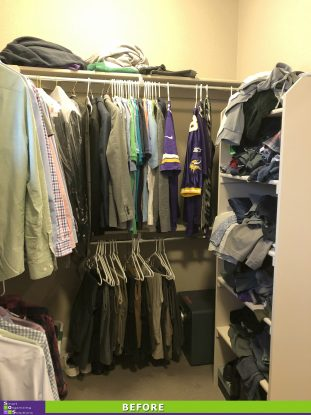 A Tidier Master Closet Before