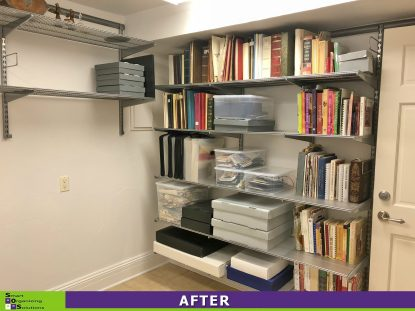 Spruced Up Storage Room After