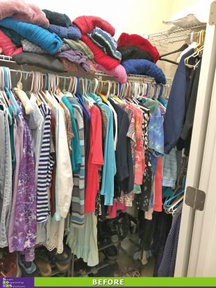 Closet Makeover Before