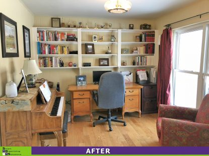 Home Office Turned Storage Space After