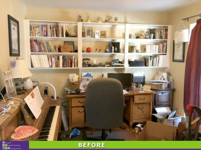 Home Office Turned Storage Space Before