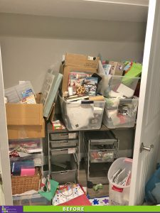 Overflowing Craft Supplies Before